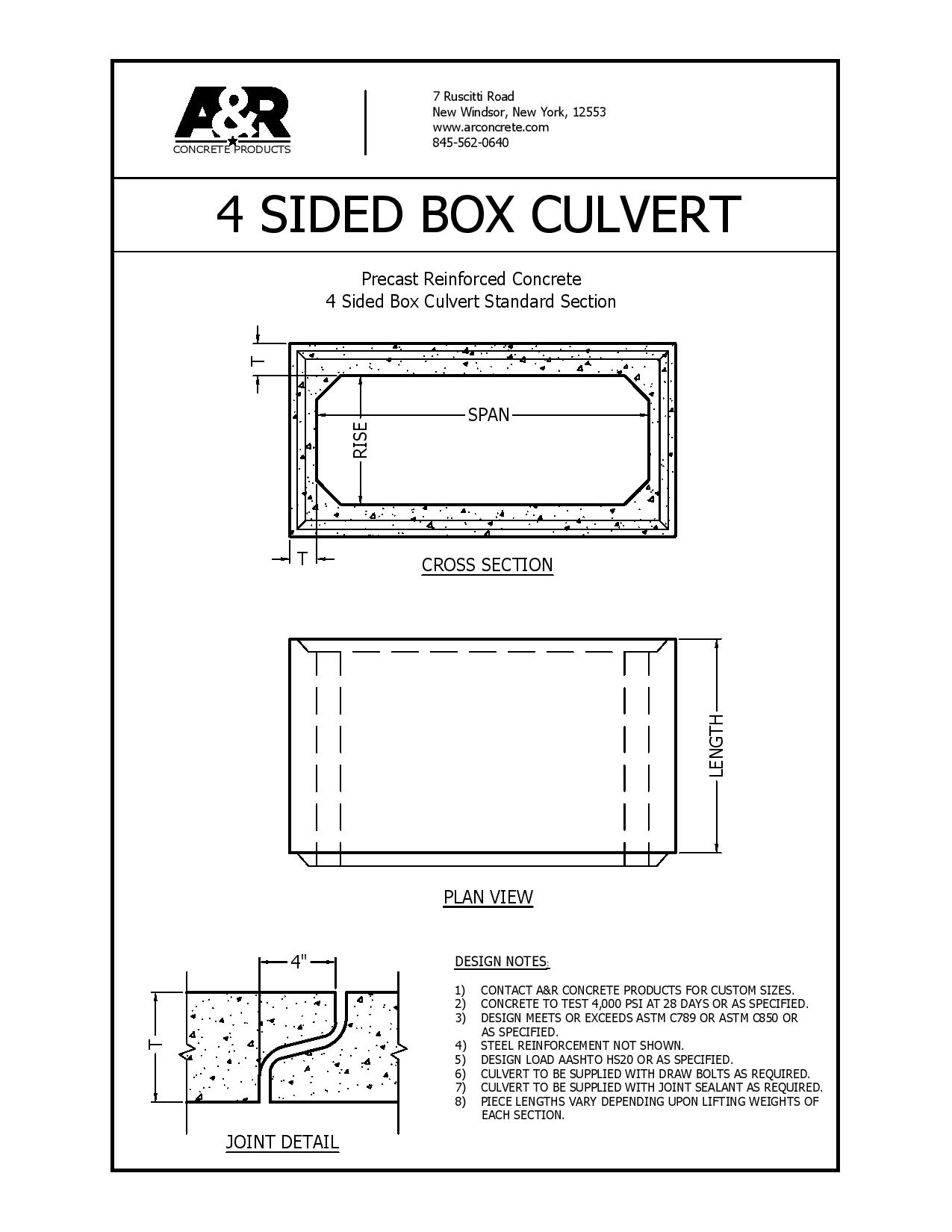 Box Culverts A R Concrete Products
